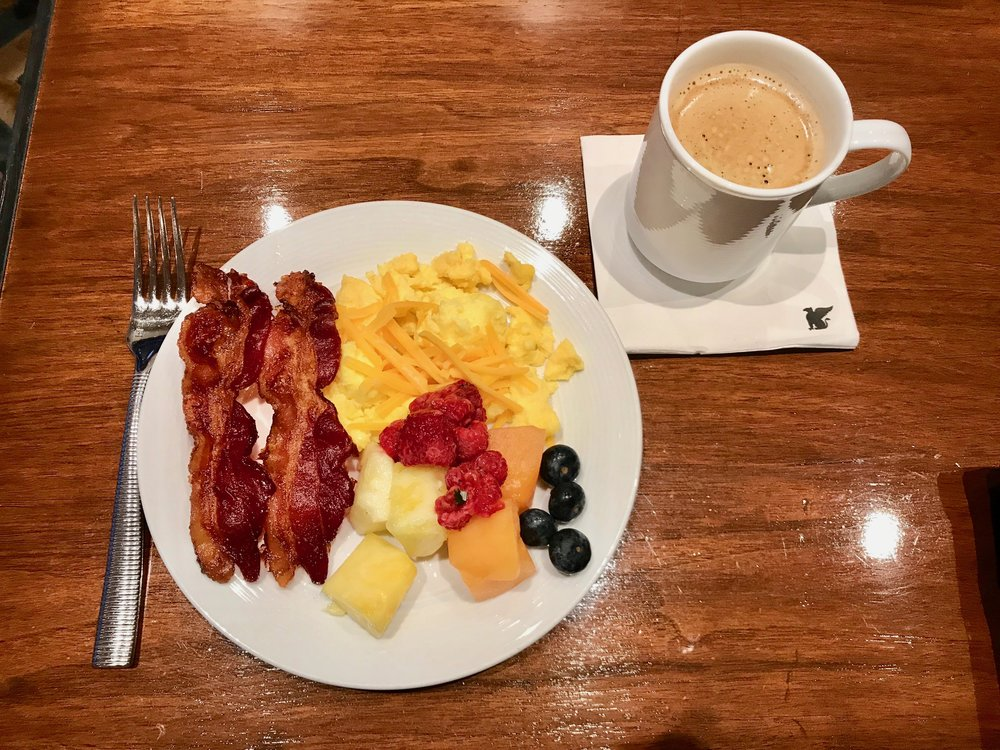 There was a complimentary full breakfast spread each morning with both hot and cold items.