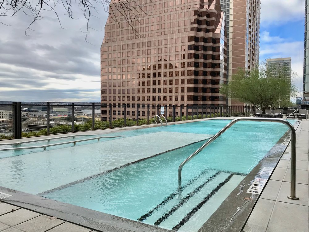 Excellent views of Downtown Austin from the 5th floor rooftop pool