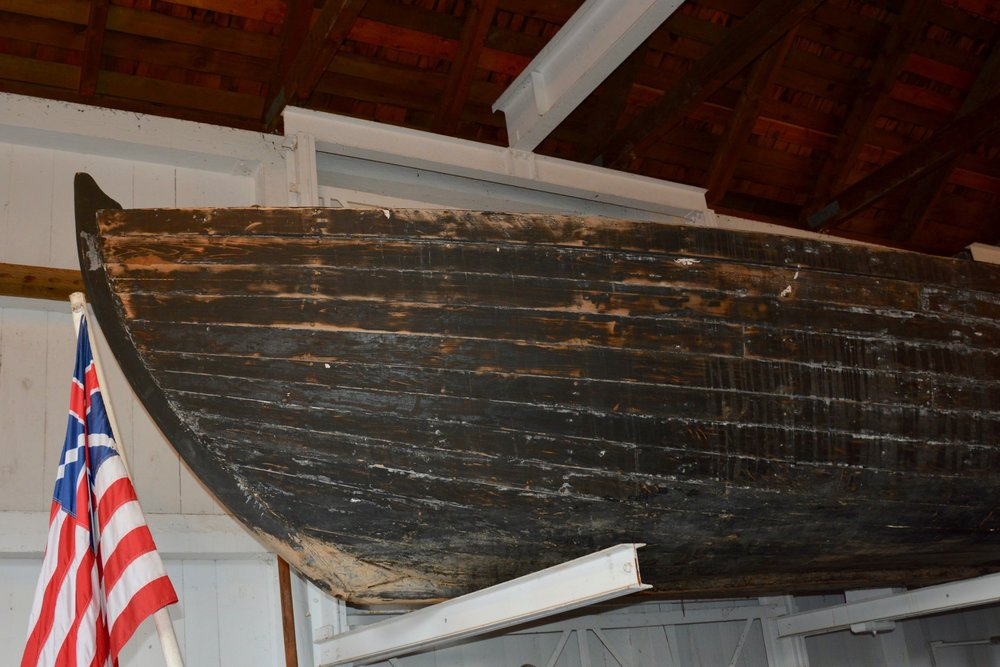 One of the boats used in the reenactment.