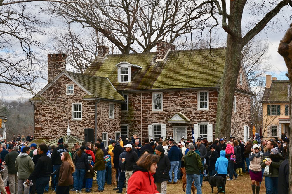 Washington Crossing Historic Park has several buildings that are believed to have been built during the time of the Revolutionary War.