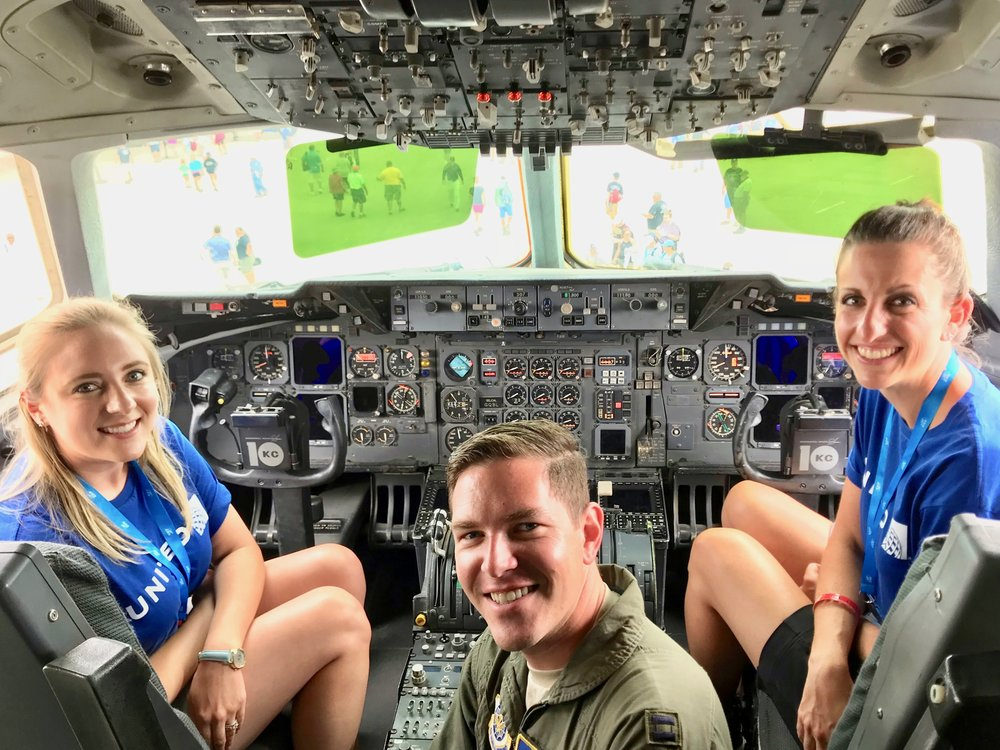 I had the incredible pleasure of giving the United HR team a tour of my plane at EAA Air Venture.