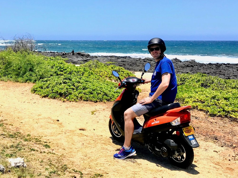 Scooting around Hawaii. You have to do it some time!