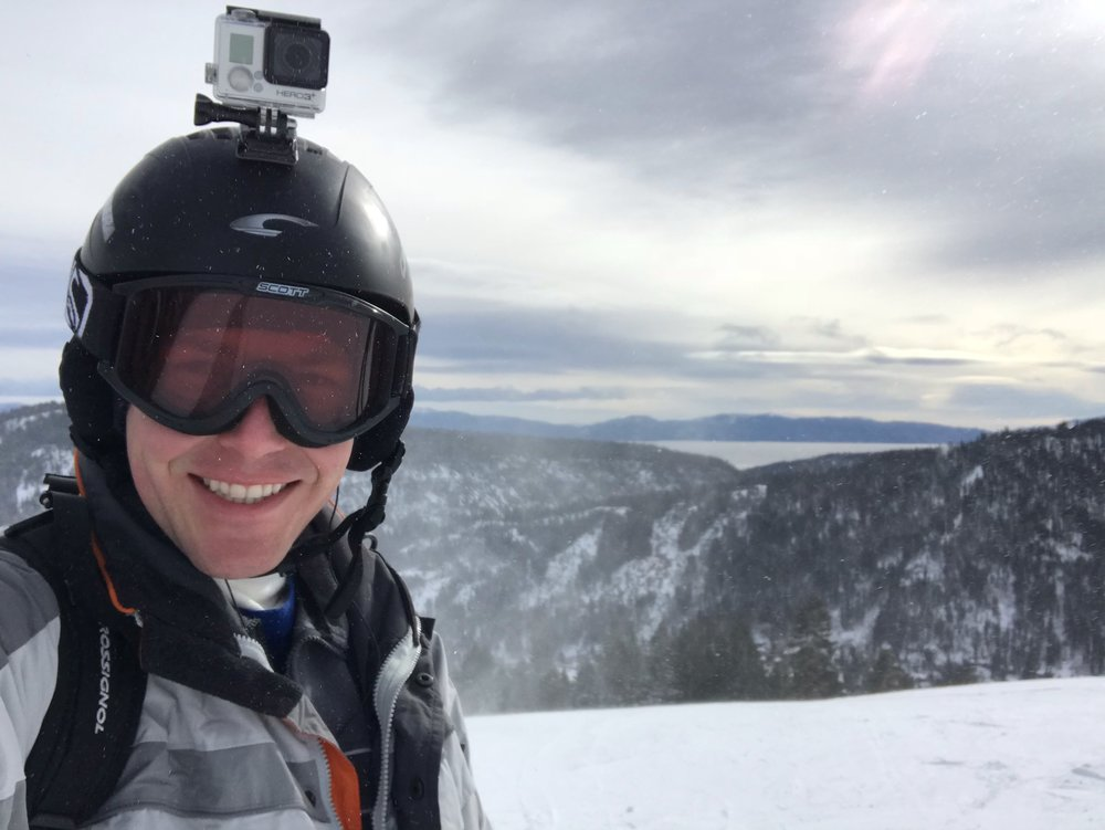 Snowboarding at Lake Tahoe. It's not Colorado snow, but it'll do!