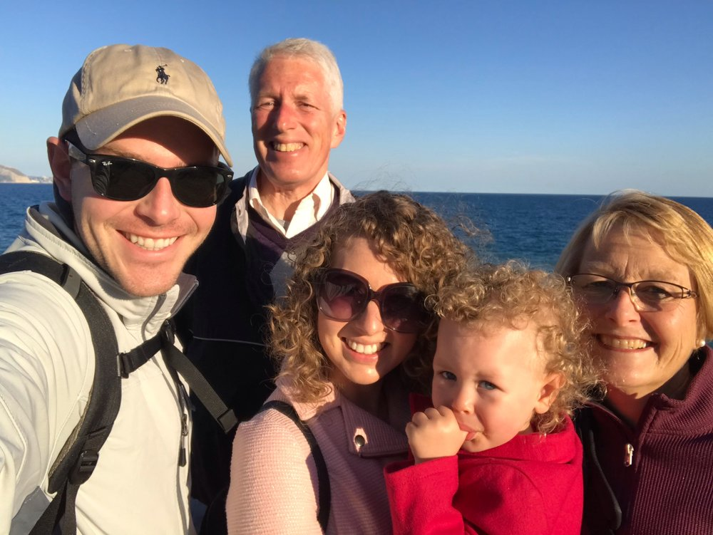 Sunset on the Mediterranean. It was as cold as we look.