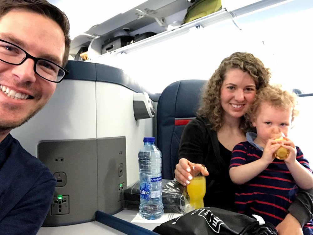 I surprised the family with Delta One to Europe!