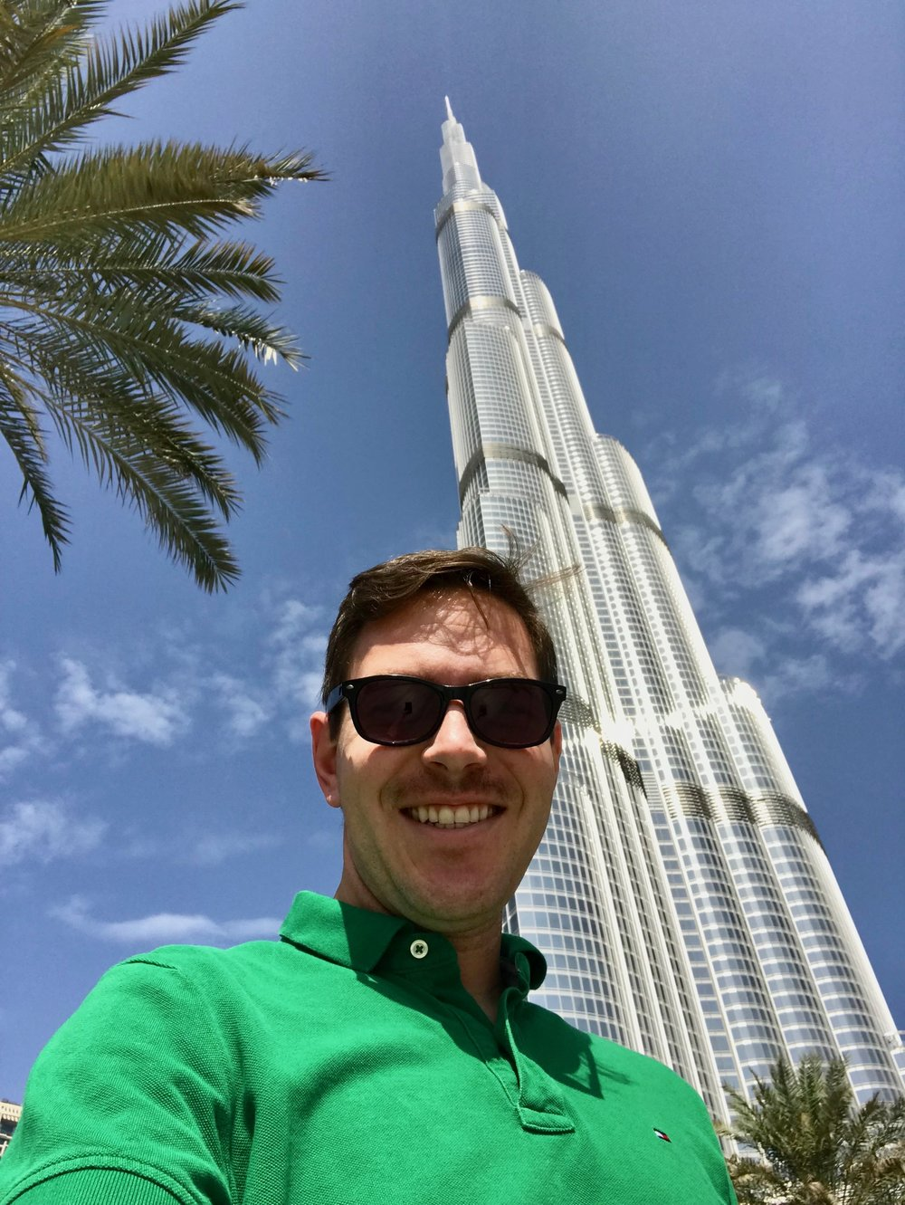Visiting the world's tallest building in Dubai.