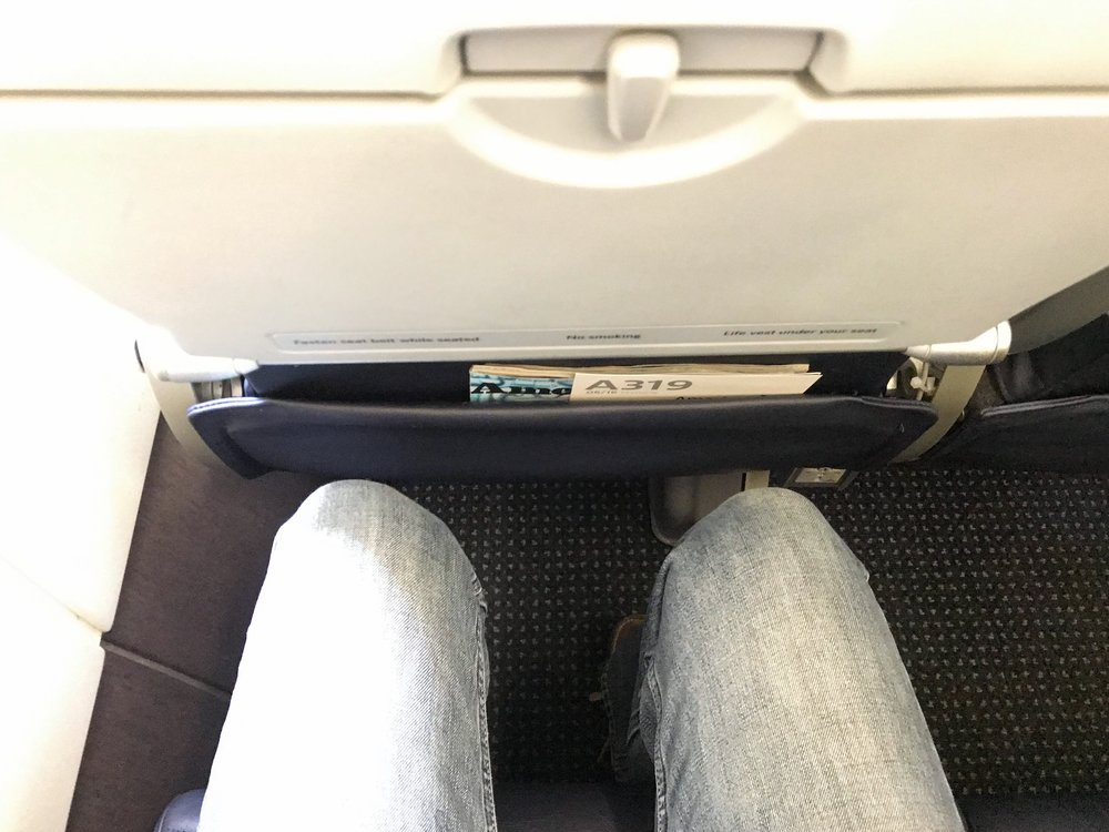 Ample legroom - on par with other US domestic airlines.