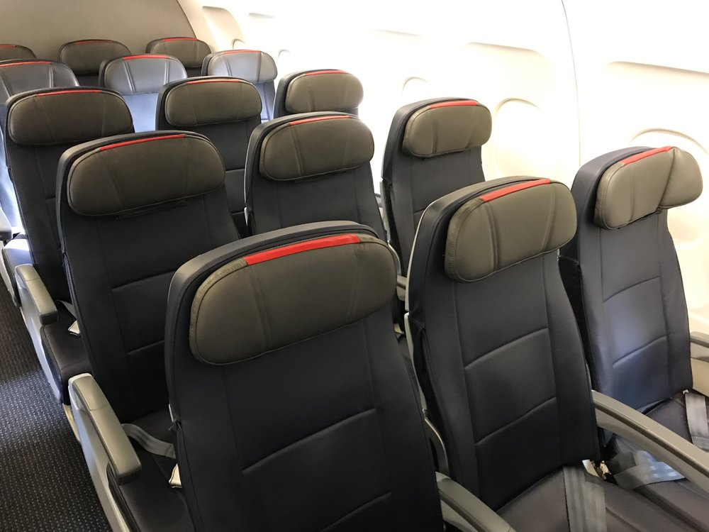 American is installing slimline seats throughout its fleet. Some people think they're not as comfortable as older seats, but I didn't feel a difference.
