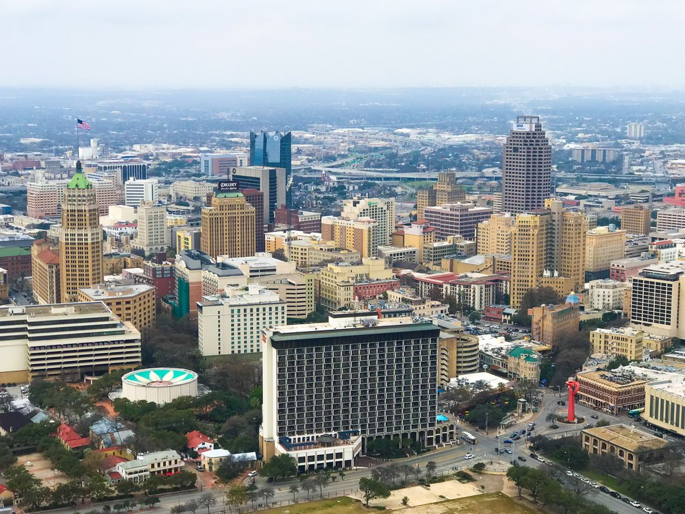 TOWER OF THE AMERICAS - See San Antonio from 750 ft