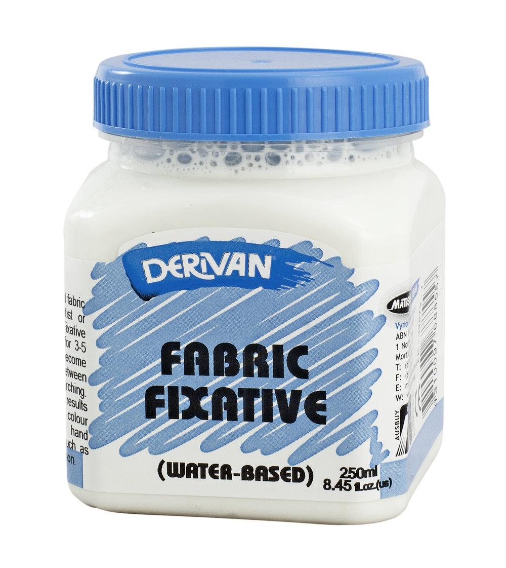 …. FABRIC FIXATIVE .. FIXATIF POUR TISSUS ..