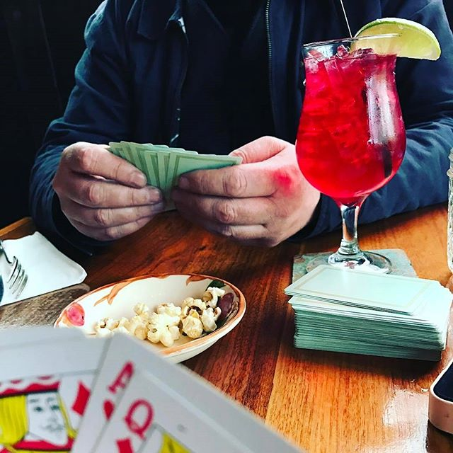🃏NightCap🃏 Lost in Portland after 10pm with limited eats? @trinketpdx's new spring gift is @nightcappdx, their evening attire to their sexy SE haunt. Saddle up with the #alleycocktail, the Pacific Mule and deal the rain away. #pdxnow #drinkpdx #cranberry #cocktail #dealerschoice #buylocal #SEPDX #latenight #portland