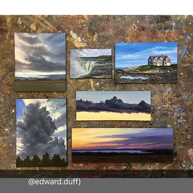 #repost @edward.duff  Six #smallworks prepped and leaving the studio. All of these paintings are oil done on @archesart Oil Paper and mounted on museum board.  #oilpainting #worksonpaper #giveart #availableart #originalart #egglestongoetze #artforchristmas #weship