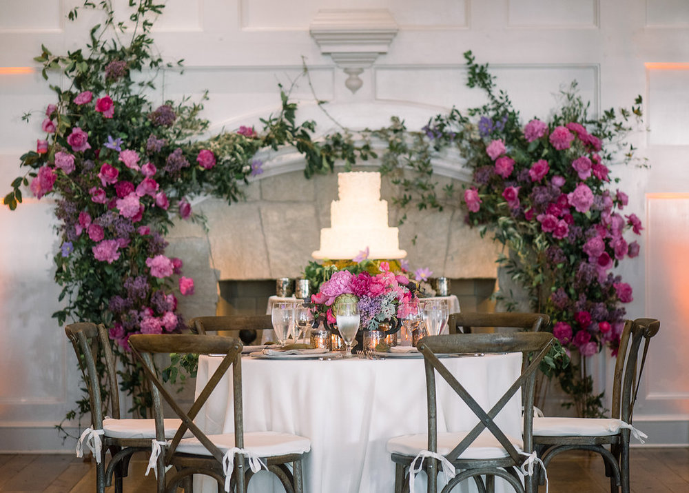 Floral Island Wedding, Events by Reagan, Kiawah Wedding, Charleston Wedding Planner,  Destination Wedding Planner, Floral Centerpiece,  Table Setting, Floral Fireplace Decor