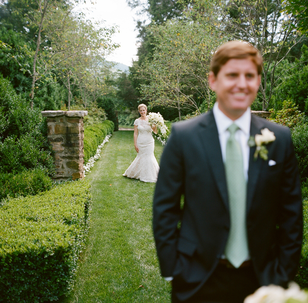 Radiant Southern Charm, Events by Reagan, Virginia Wedding, Destination Wedding Planner, First Look, Bride and Groom