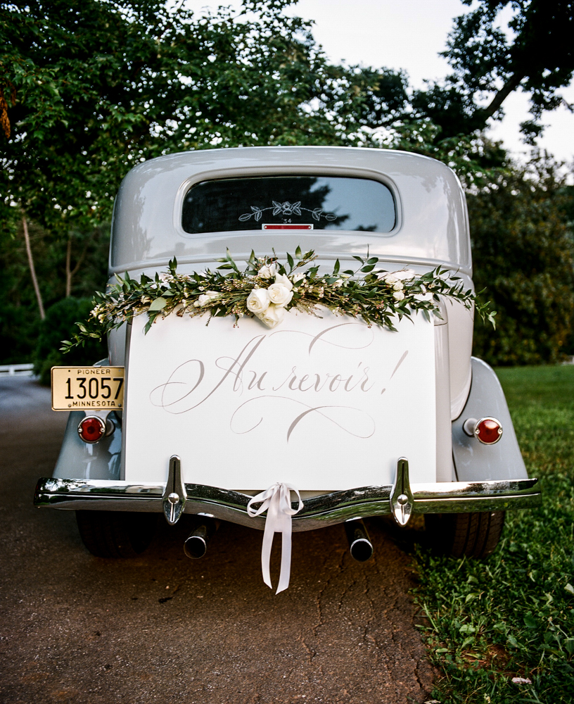 Radiant Southern Charm, Events by Reagan, Virginia Wedding, Destination Wedding Planner, Just Married Car , Car Flowers