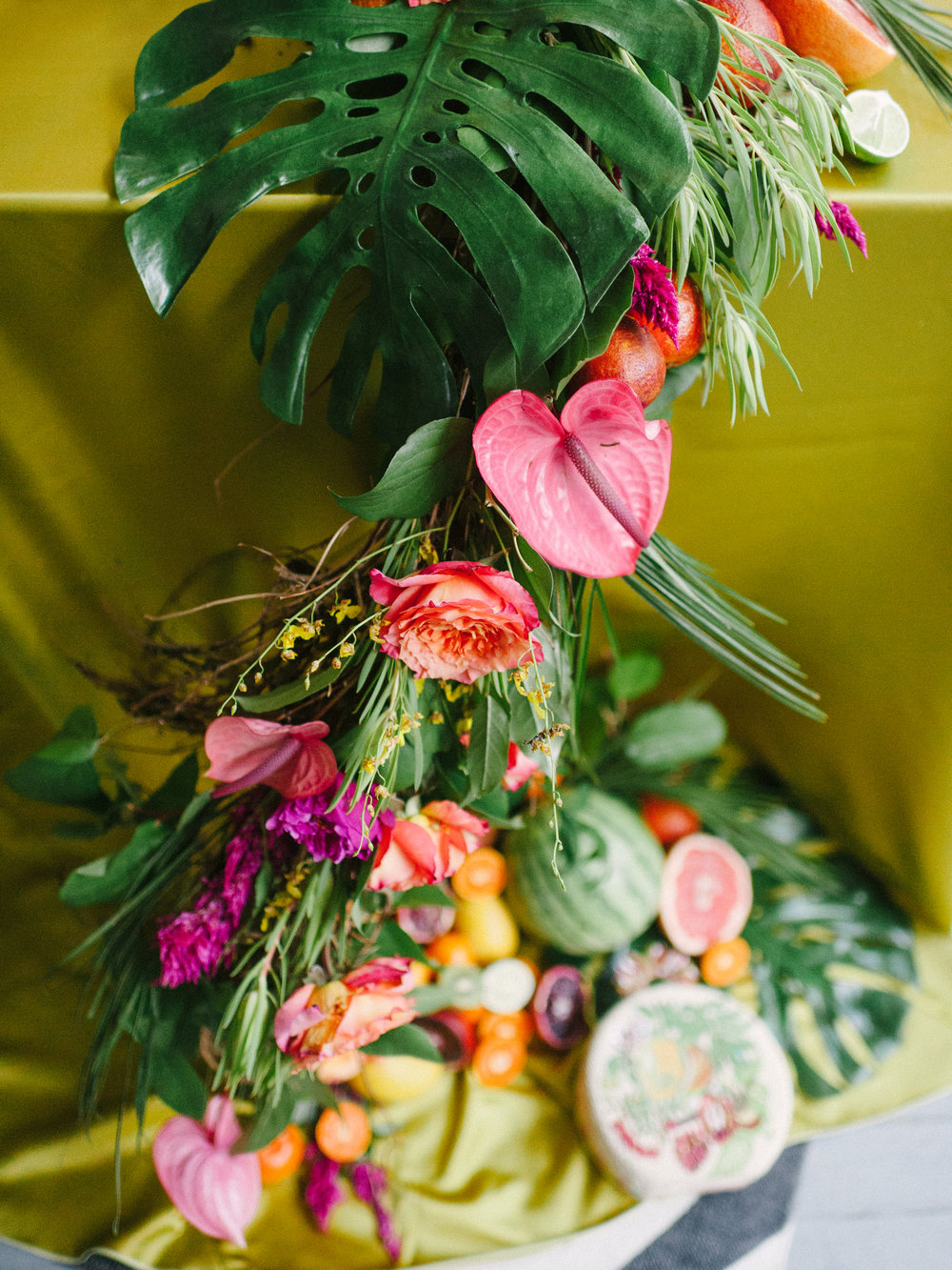 Charleston Porch Party, Events by Reagan, Dinner Party, Tropical Party, Charleston Event Planner , Fruit and Flower Decor