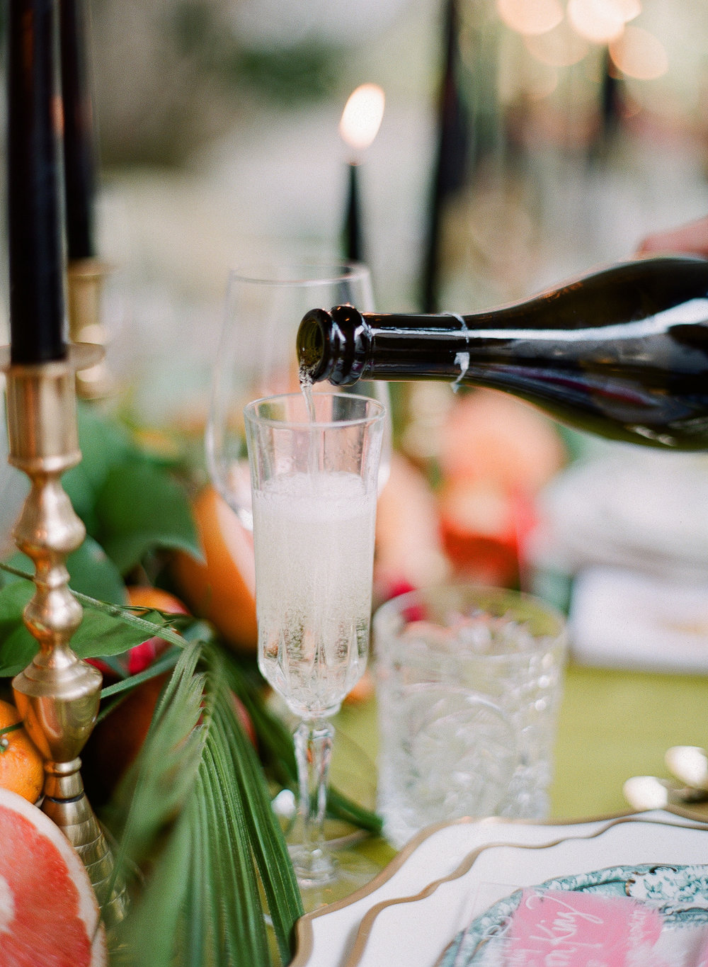 Charleston Porch Party, Events by Reagan, Dinner Party, Tropical Party, Charleston Event Planner , Champagne Glass