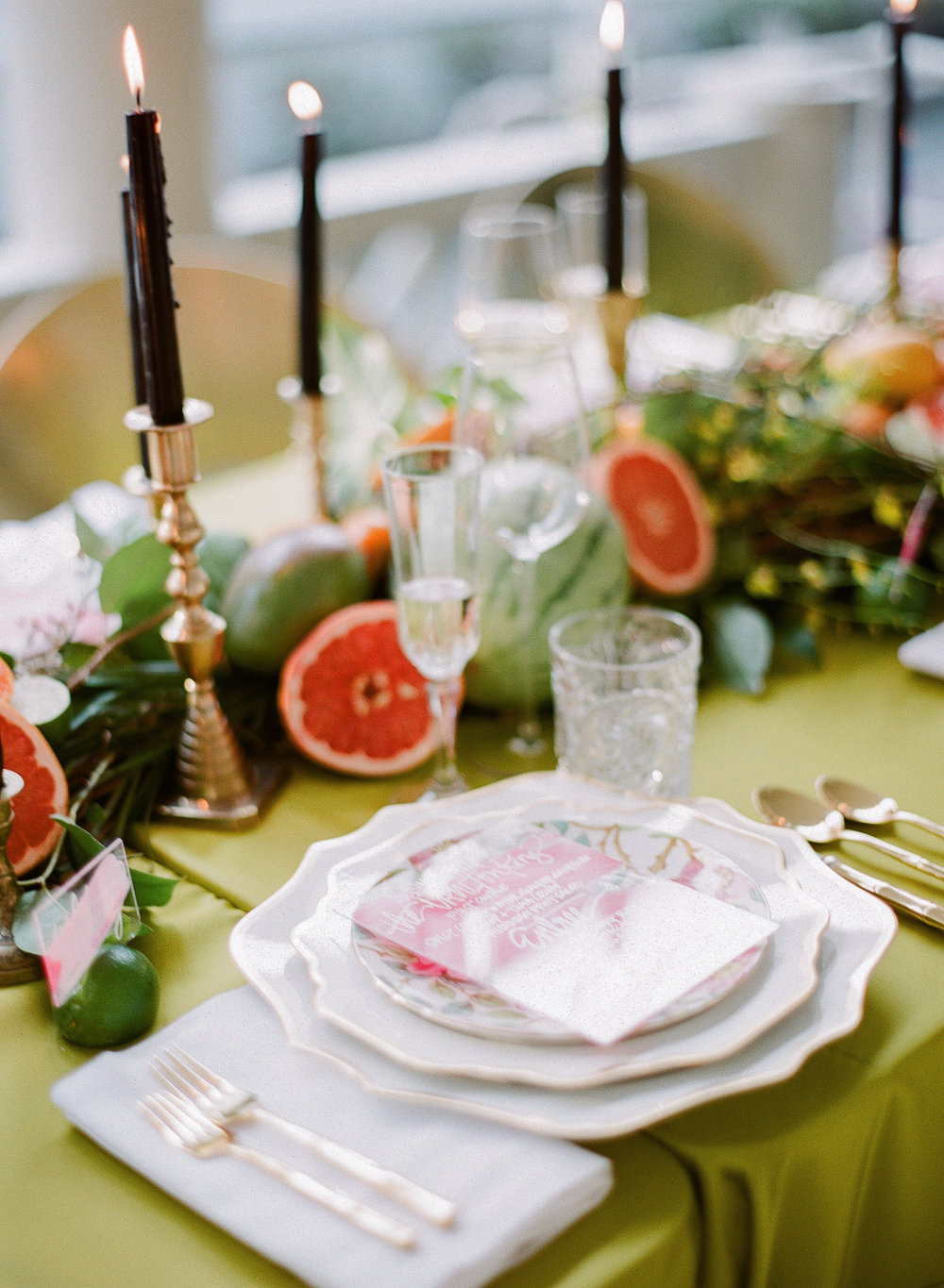 Charleston Porch Party, Events by Reagan, Dinner Party, Tropical Party, Charleston Event Planner , Place Setting