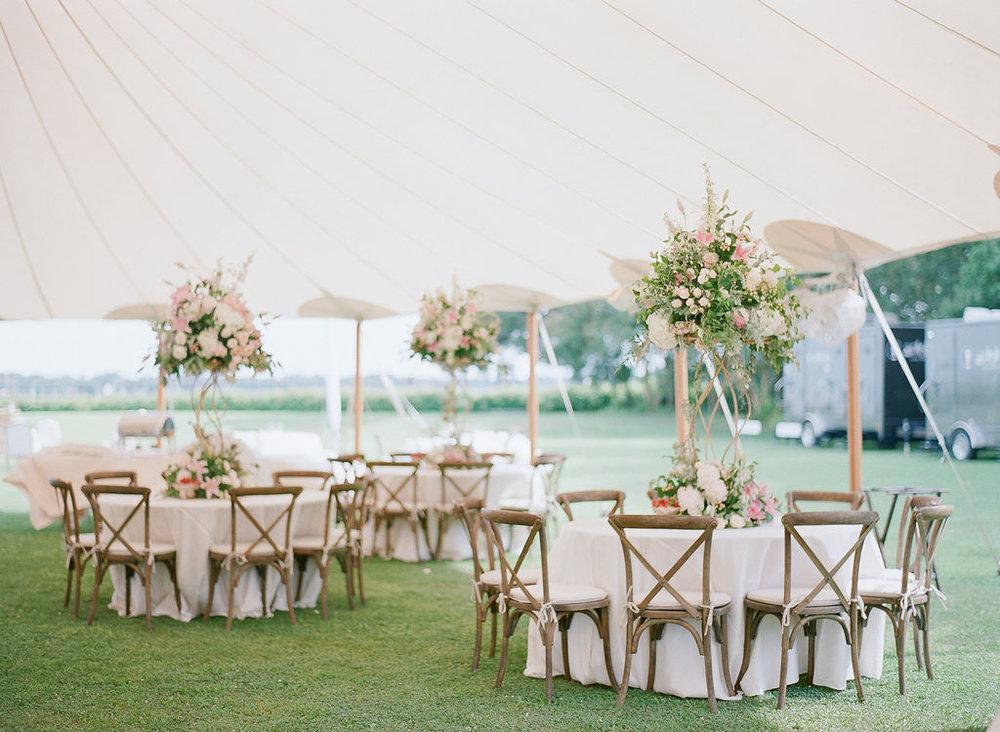 North Carolina Wedding, Events by Reagan, Destination Wedding Planner,  Outdoor seating, Extravagant flower centerpiece