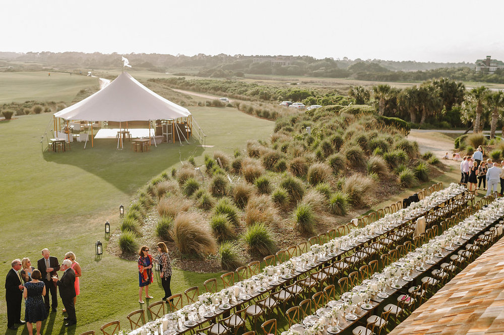 Wedding by the sea, Events by Reagan, Kiawah Wedding, Charleston Wedding Planner, Outside Wedding Venue , Seated Dinner, Covered Dance Floor
