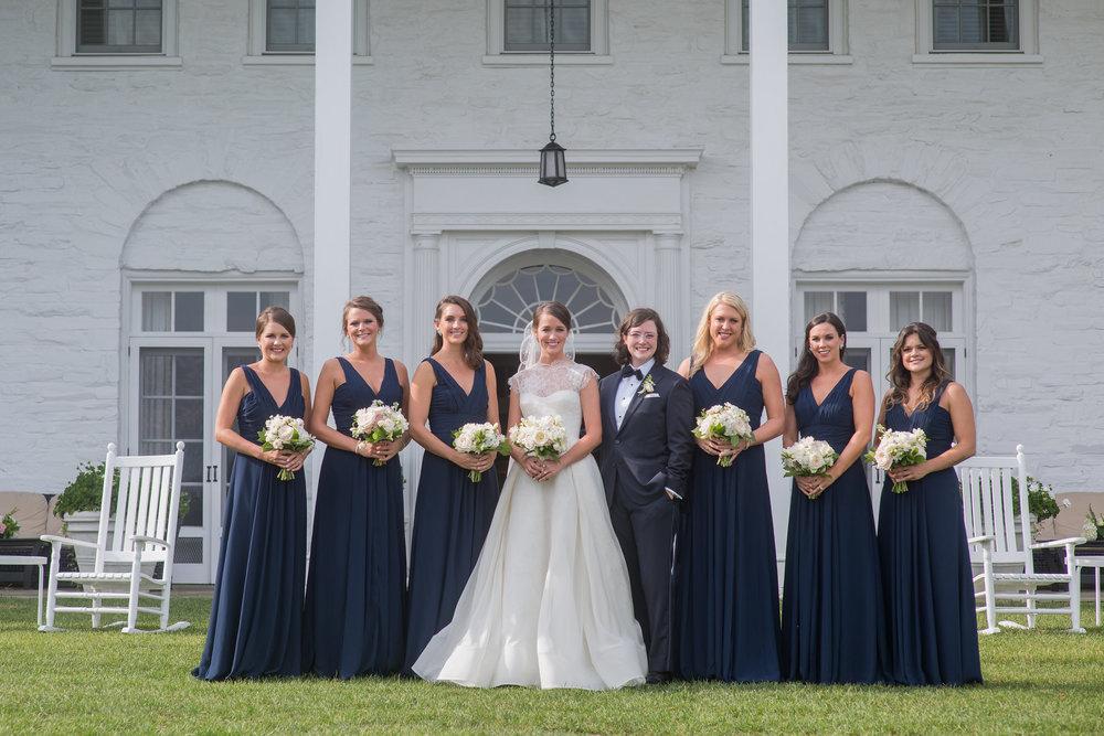 North Carolina Wedding, Events by Reagan, Destination Wedding Planner, Bridal party, Bridesmaids, Navy bridesmaid dress