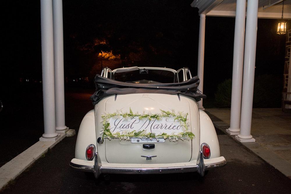 North Carolina Wedding, Events by Reagan, Destination Wedding Planner, Just married car