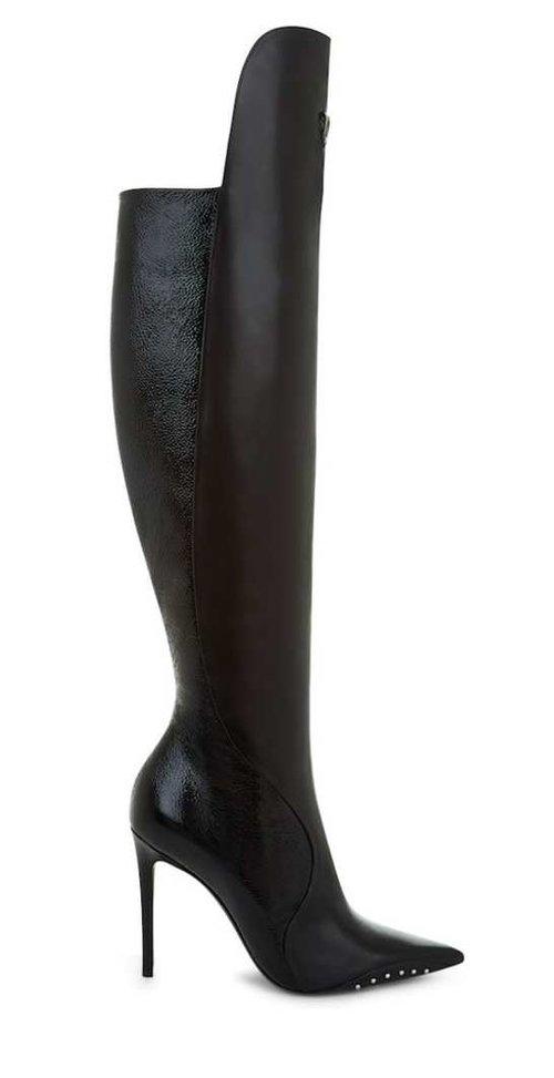 36552faee22 Stevie Black Leather Stiletto Boots — 2000 Feet