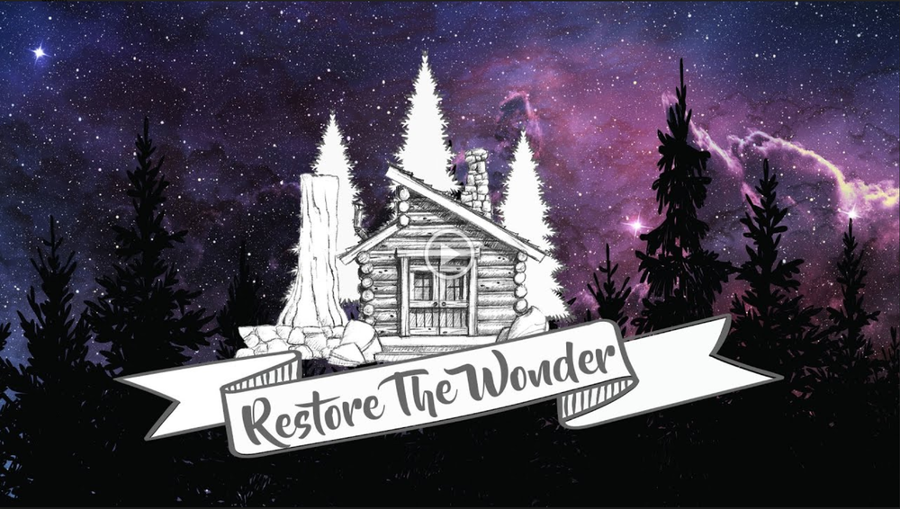 Watch as we unveil Restore The Wonder to our children!