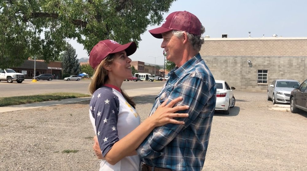 Dave and Wendy on the Senate campaign trail in Wyoming, 2018