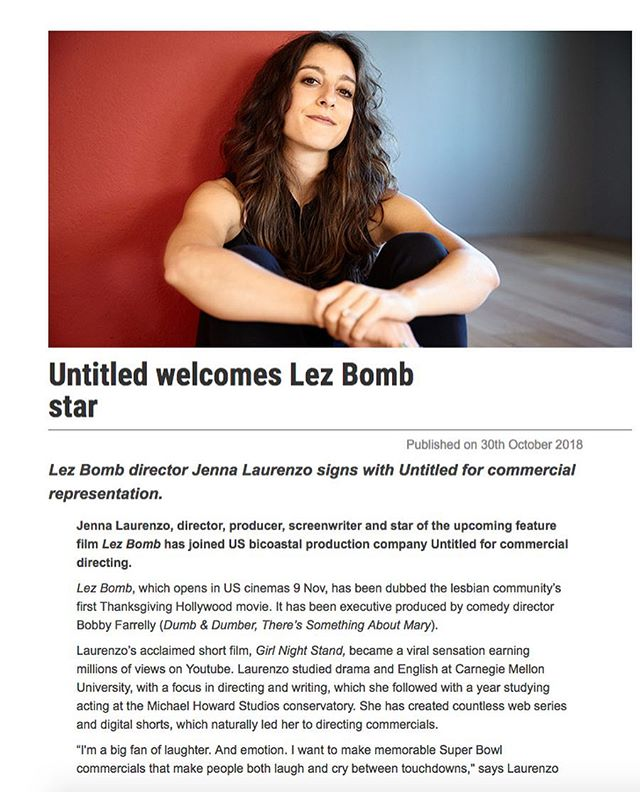 We are very excited to welcome Jenna Laurenzo to the @untitledinc family! Click the link in bio to check out the @shots_creative article ft. @jennalaurenzo