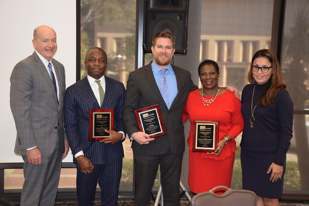 Dr. Jeff Temple accepting the 2018 Martin Luther King, Jr. Service Award