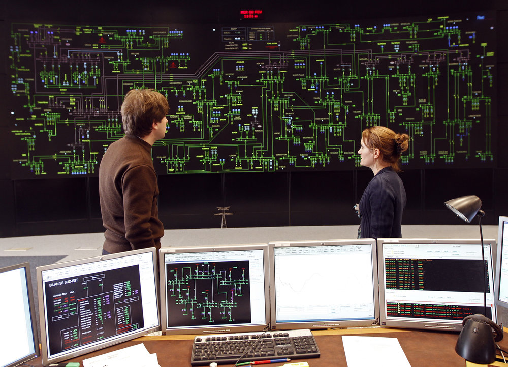 """A """"standard"""" digitization of a one line displayed on a video wall can increase the likelihood of human error by adding unnecessary complexity for operators making grid management decisions. Photo: Courtesy of Reuters"""