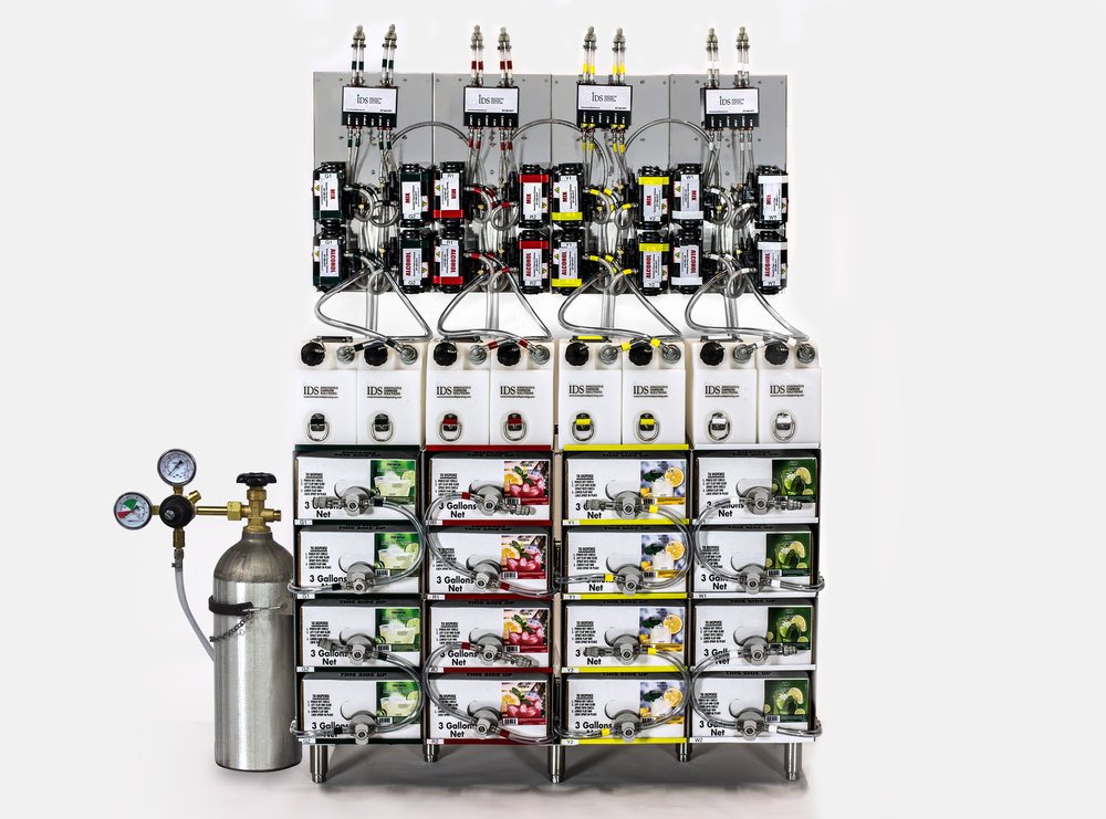 High-Volume, Four-Flavored Dispenser