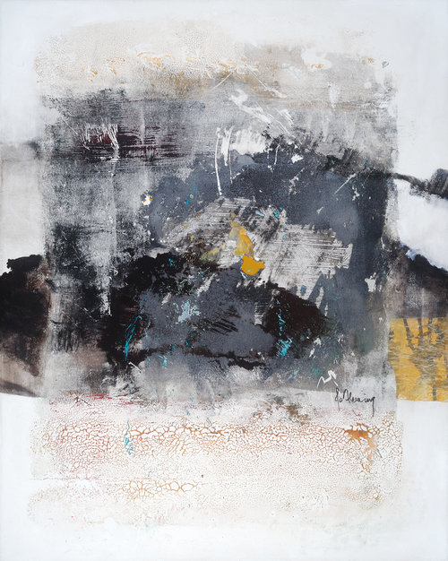 "Jo Fleming ""Water Quality"" mixed media on canvas"