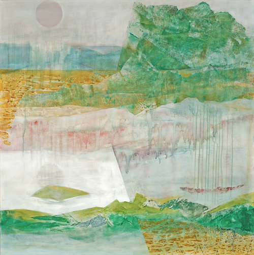 "Jo Fleming - ""Point of Rocks"" mixed media"