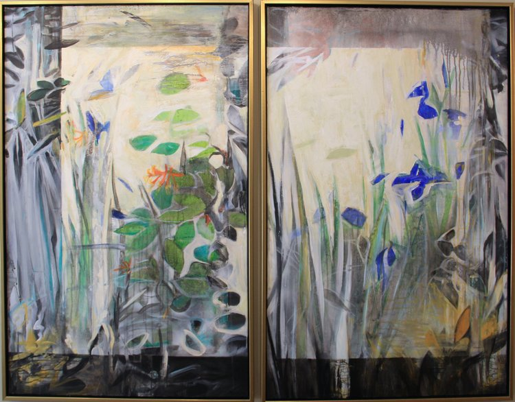 Bright Pond diptych, 60 x 48 (Sold)