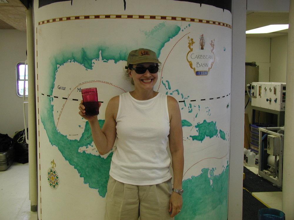 Jill Moed 6-15-01 at map.jpg