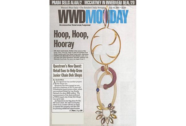 Amethyst Crescent Hoops, Women's Wear Daily