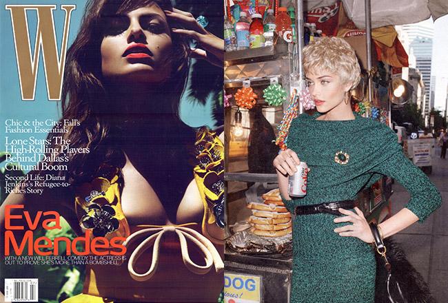 Sapphire Baguette Hoops, W Magazine