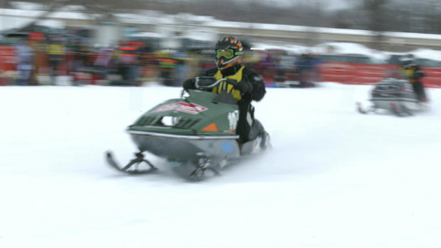 Snowmobiles of 1973 vintage and older will be the focus of the One Lunger 100, a 100-mile endurance race set for Saturday, Jan. 12 on the ice in front of Detroit Lakes' Holiday Inn. (Tribune file photo)