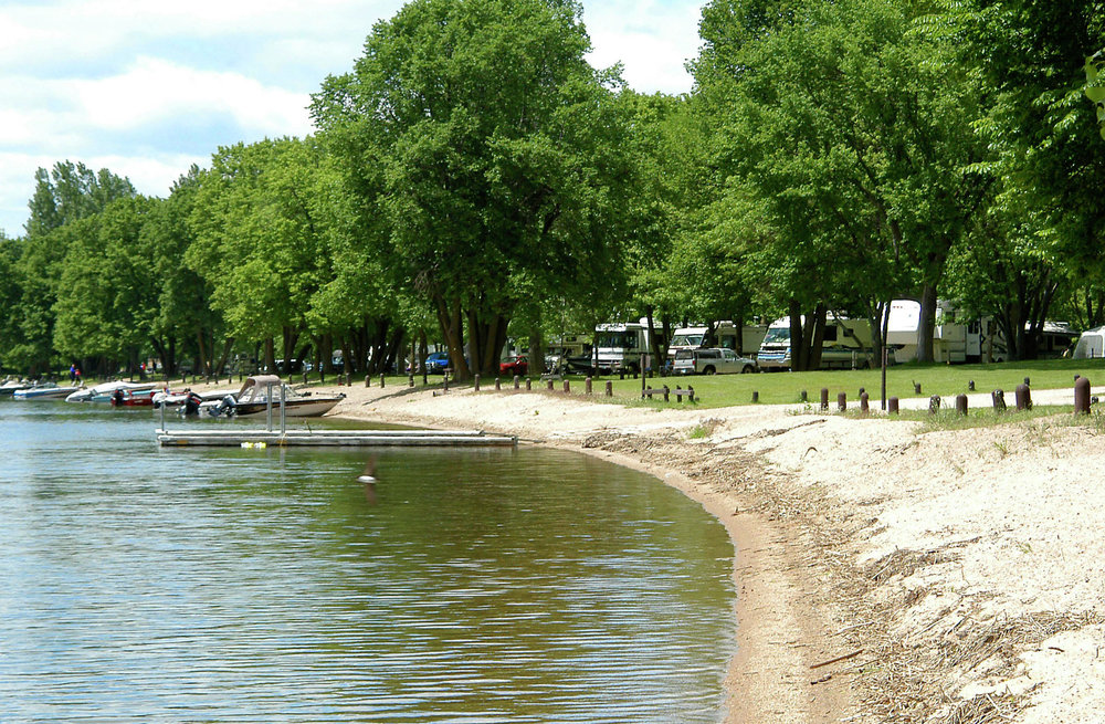 Lake Carlos State Park in Douglas County offers many amenities, including a beach area. (Echo Press file photo)