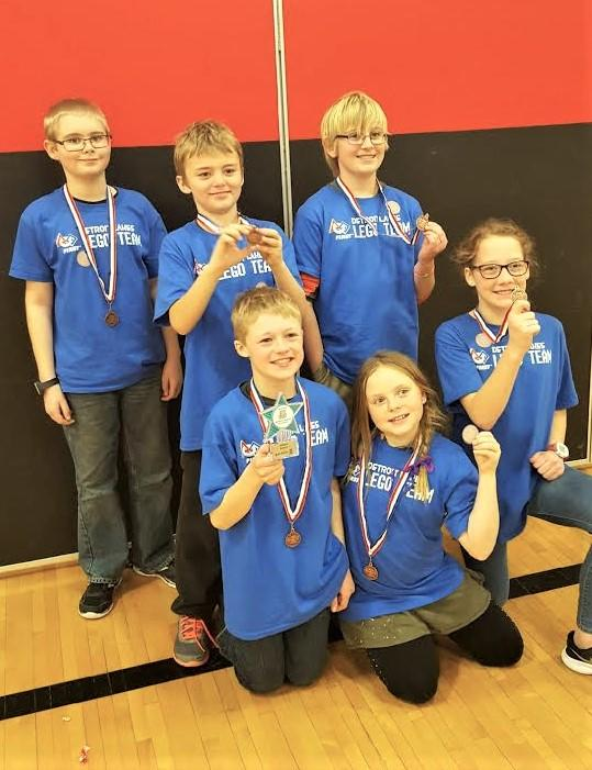 The Becker County LEGO robotics team, The Space Dogs, won the Judges Award at a FIRST LEGO League tournament in Alexandria, Minn. for persevering after their computer crashed. The team members rebuilt all of their computer programs the morning of the tournament. (Submitted Photo)