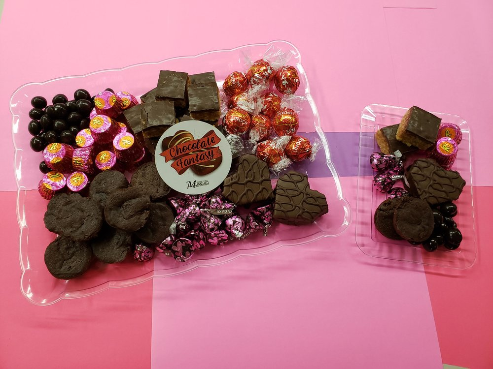 """This mouthwatering image is a sneak peek at the two sizes of """"Chocolate Fantasy"""" trays that can be delivered, picked up curbside or hand-selected during a special fundraising event set for Thursday, Feb. 14 at the Becker County Museum. (Submitted photo)"""