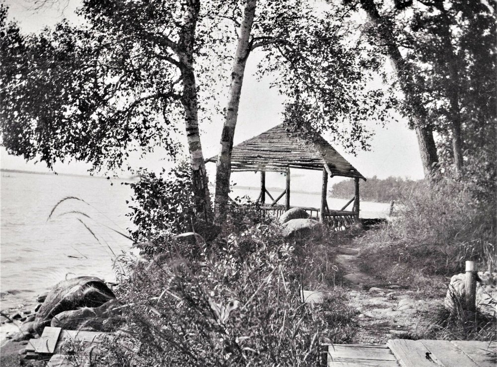This photo of 'The Clubhouse' can be found in the archives of the Becker County Museum's research library.