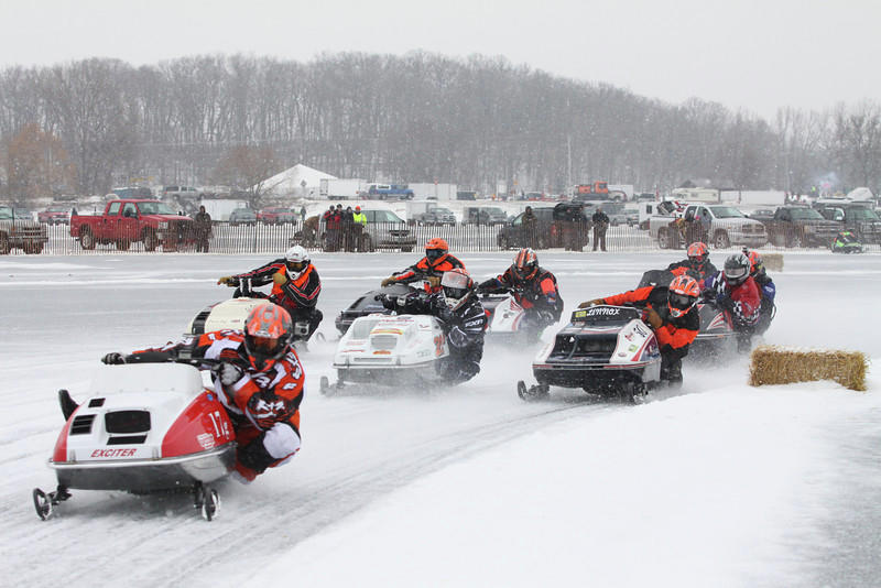 Ice oval pond racing returns to Little Detroit Lake on Saturday, Feb. 23, with the second annual Ice Harvest 440 getting underway at noon. (Submitted Photo)