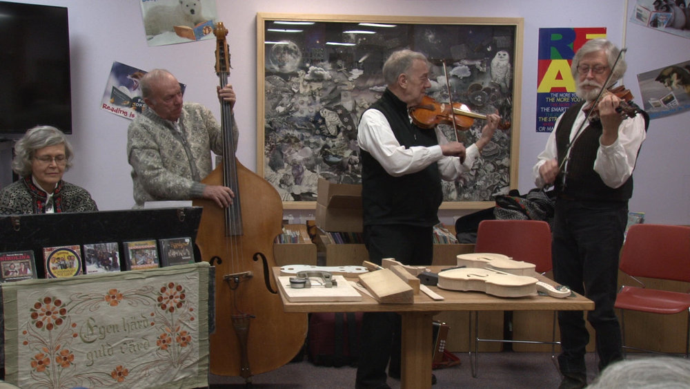 The Brainerd based Scandinavian quartet played several songs in addition to explaining the complex process of violin building. Michael Denny/Wadena Pioneer Journal
