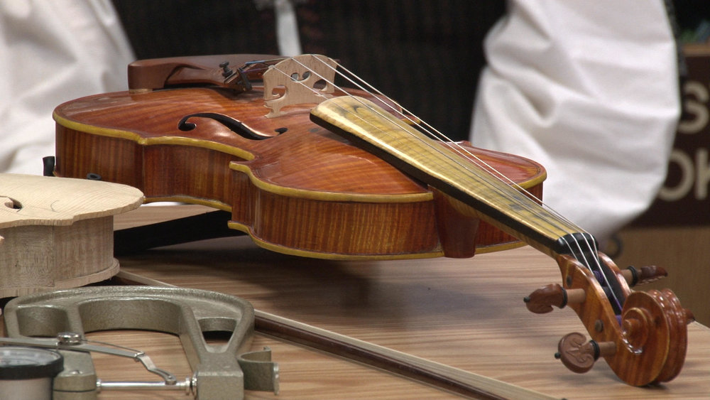 Stringed instruments like these require an immense amount of training to construct. Michael Denny/Wadena Pioneer Journal
