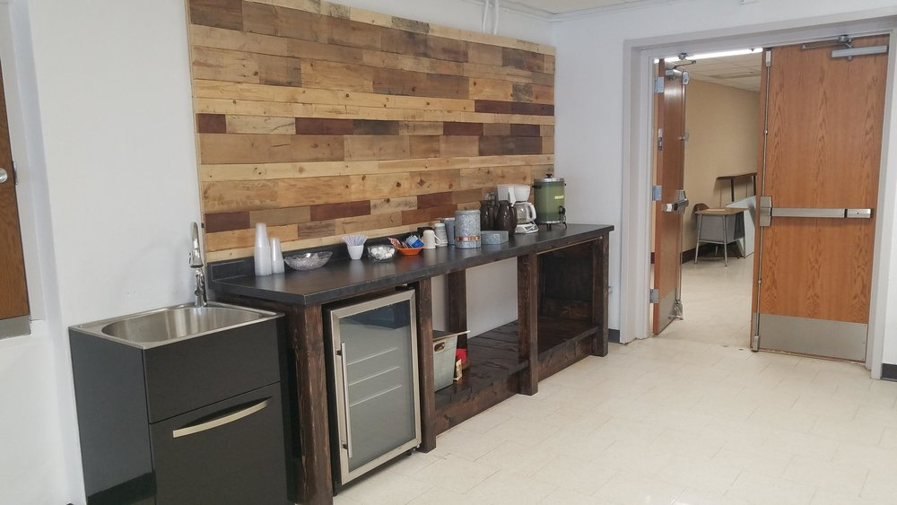 This is the coffee bar that has been set up inside the new Holmes Art Cellar, which shares space with the Detroit Lakes Senior Center in the basement of the Historic Holmes Theatre. (Vicki Gerdes / Tribune)