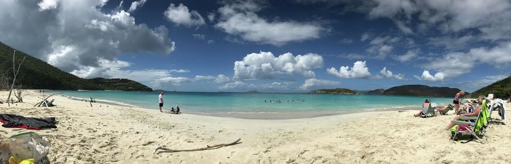 A panoramic view of Cinnamon Bay, one of the many beaches available for swimming and sunning at St. John. (Submitted Photo)