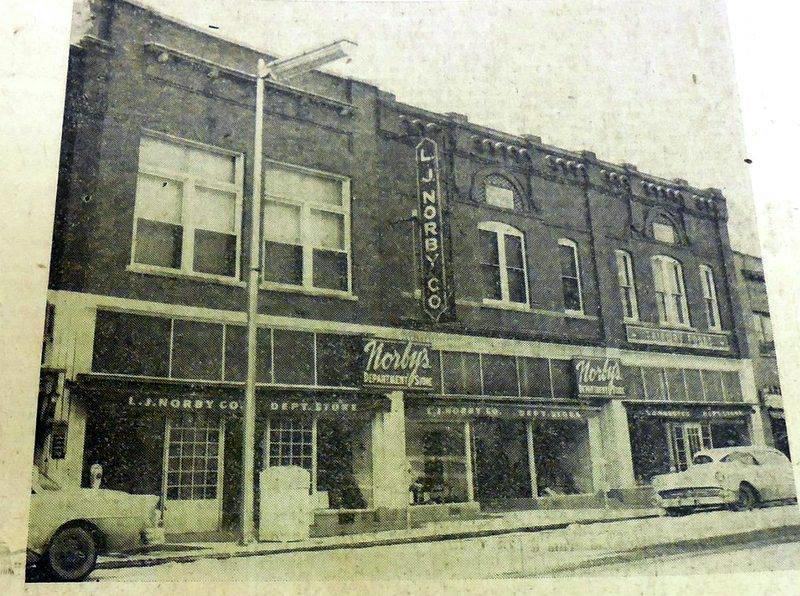 An old photo of the Norby's building offers an idea of what Norby Flats will look like after renovations are complete. (Photo from the Detroit Lakes 50s-60s Memories Facebook page)